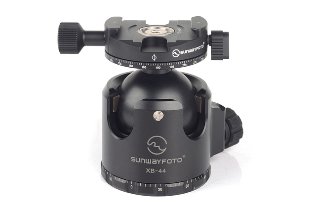 SUNWAYFOTO 44mm Low-profile High Locking Professinoal Aluminum Ball head With Panning Clamp and Maxload of 40KG