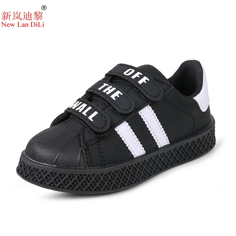 2019 Spring And Autumn New Style Sneakers Children's Stripe White Shoes Girls Casual Shoes Boys Students Sports Shoes Size 21-36