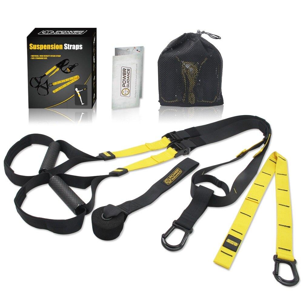 Home Fitness Exerciseur Suspension Formateur Ceinture Bandes de Résistance Crossfit Équipement Force Hanging Formation Strap
