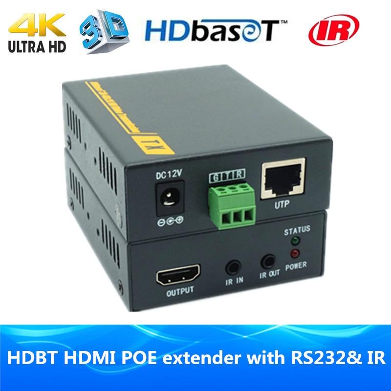 230ft 4Kx2K 3D EDID IR RS232 HDBaseT POE HDMI Extender 70m HDMI1 4v HDBT HDMI extender