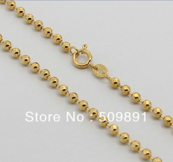 NE1557 Big Fashion Men s Bead Necklace Designs 3mm Beaded Chain