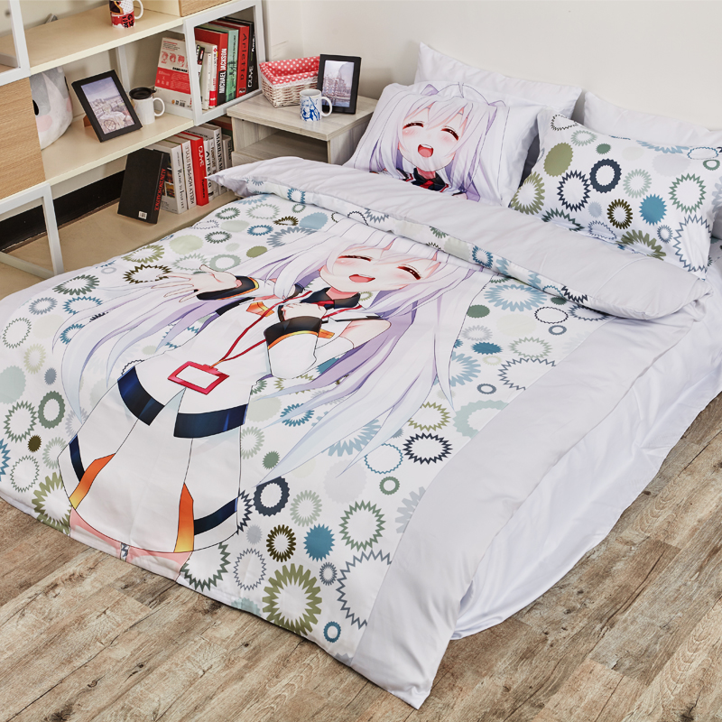 Anime Cartoon Plastic Memories Isla Quilt Cover Bedding Set With Pillow Cases Bed Sheet Duvet Cover Set 4pc 1