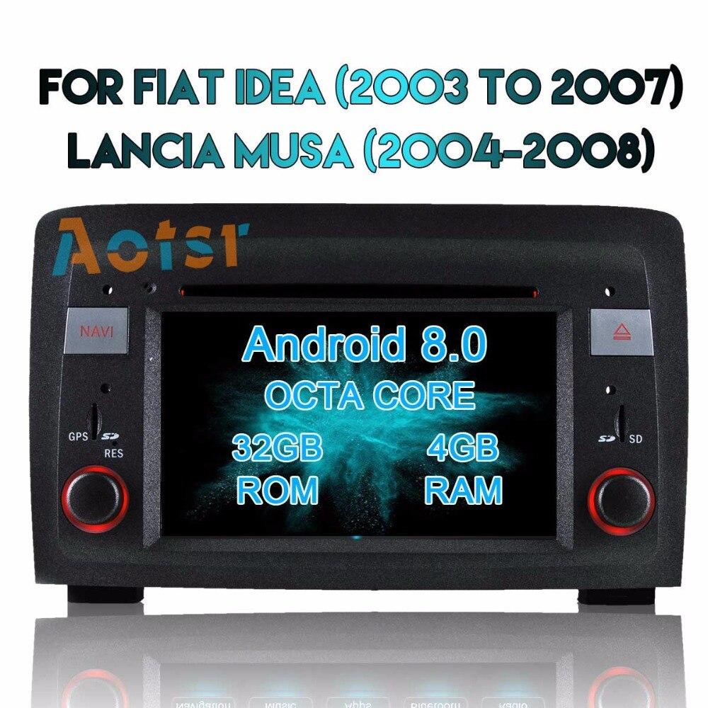 Pour Fiat Panda 2004-2018 Android 8.0 Autoradio lecteur multimédia Radio stéréo DVD GPS Navigation Sat Navi médias MirrorLink