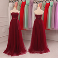 Burgundy Bridesmaid Dresses Sweetheart Strapless Pleat Orange Bridesmaid Prom Dresses Under $50 Vestido De Festa De Casamento