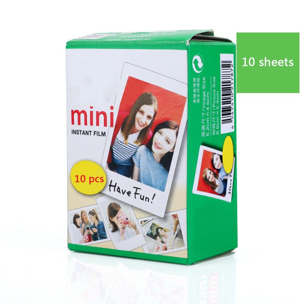 10-40 листов Fujifilm пленка белая пленка для Instax Mini Edge Фотобумага для цифровой фотокамеры Fuji Instax mini 8/фотоаппаратов моментальной печати 7 s/25/50/90 3 дюймов фотоальбом - Цвет: 10 Sheets