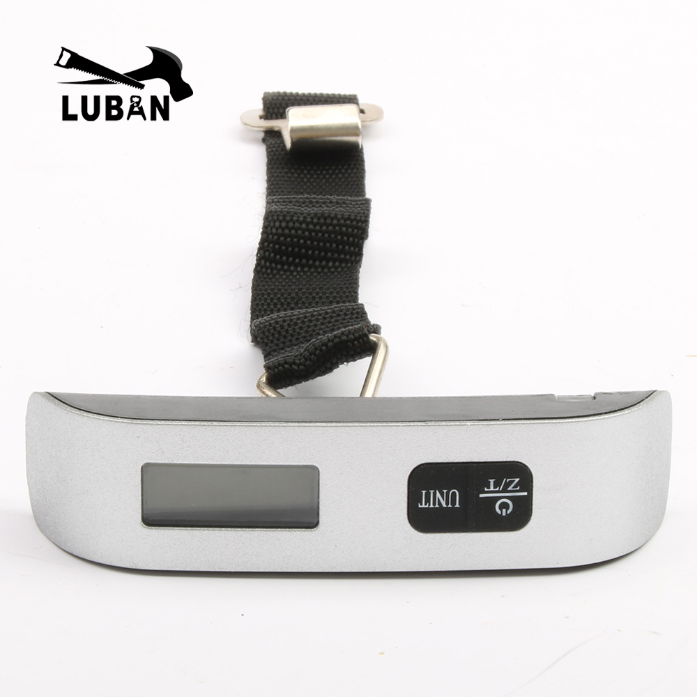 8e1f360d1b16 US $5.8 10% OFF|Mini Digital Luggage Scale Hand Held LCD Electronic Scale  Electronic Hanging Scale Thermometer 50kg Capacity Weighing Device-in ...