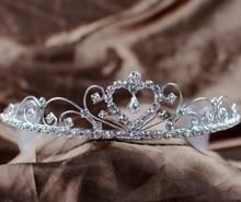 Милые сердцу тиара диадема горный хрусталь кристалл невест повязка на голову с волосами комбс девушка корона свадебные мода серебряные ювелирные изделия