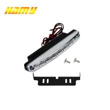 1х Автомобильный светодиодный 12 В внешний белый 8 светодиодный s Универсальный Автомобильный светильник дневной ходовой светильник противотуманная фара прочный вспомогательный водонепроницаемый светильник