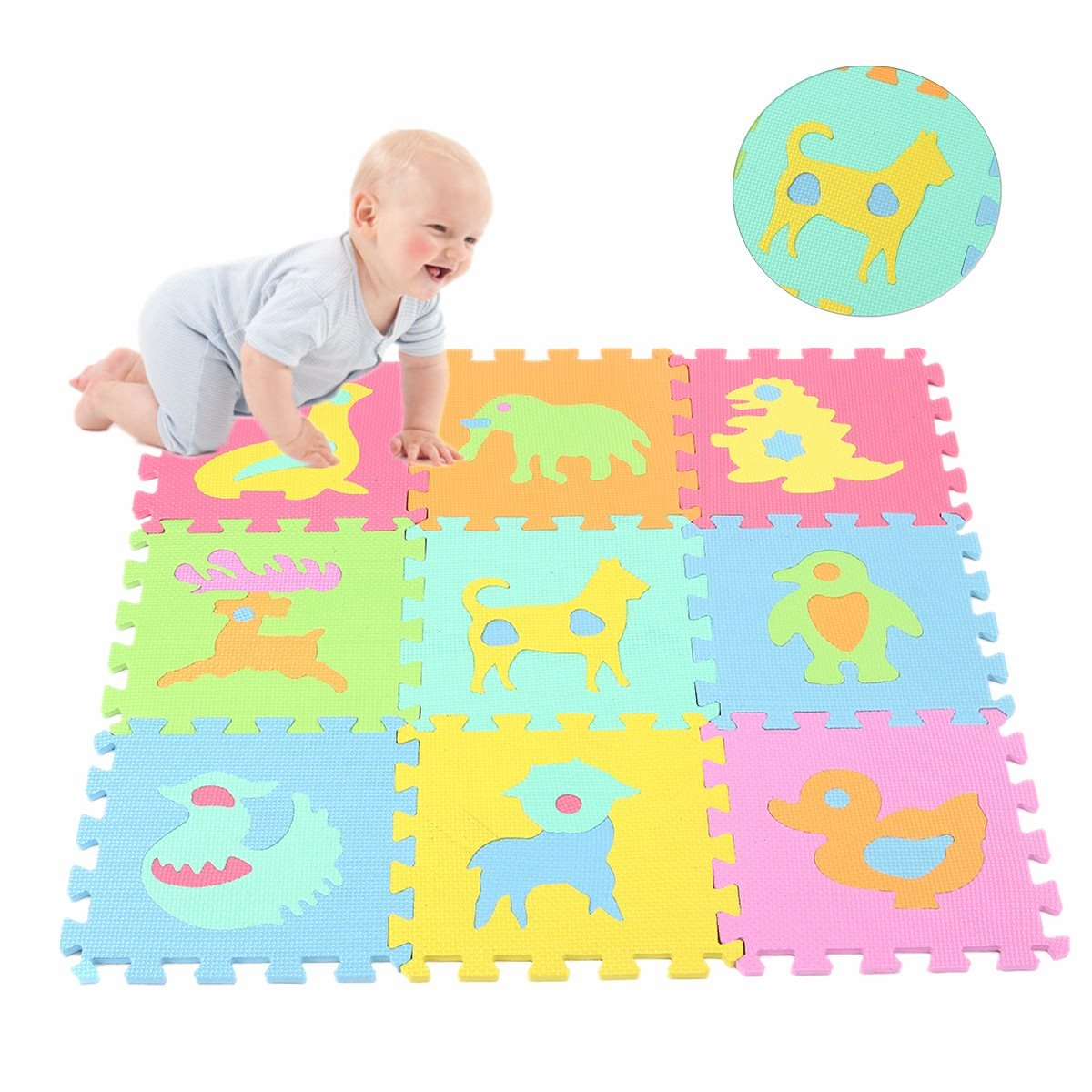 Hot Sale 10pcs Set Carpet Baby Kids Play Mat Floor Mat Eva