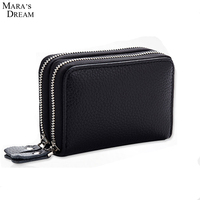 Mara S Dream Couple Business ID Document Holder Bag Utility Cow Leather Multi Card Passport Holder