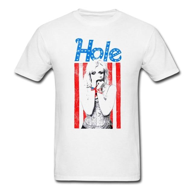 1bd776cc0 Hole Courtney Love Flag Photo T shirt men and women GRUNGE tee custom  printing