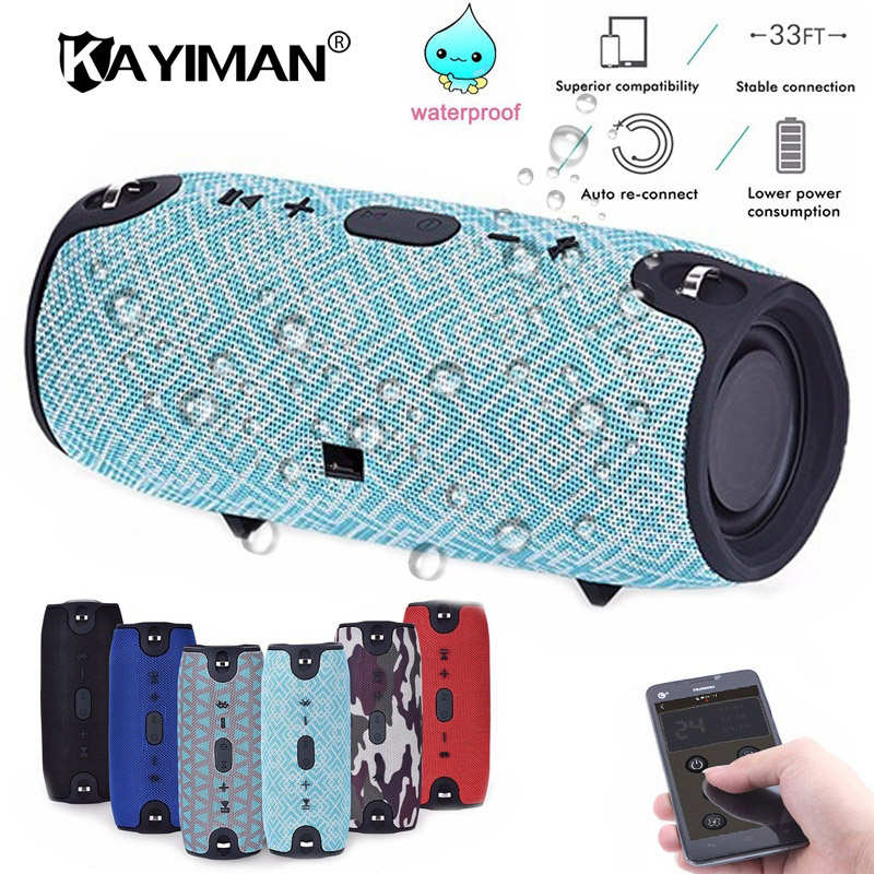 Bluetooth Speaker Outdoor Bicycle 20w Waterproof Mic  Portable Bluetooth Wireless Speaker Fm Radio Tf Card MP3 for xiaomi Phone kubei 290 wireless bluetooth v3 0 speaker w fm radio black