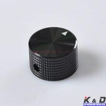 2PCS 25x15.5 6.35mm Black Solid Aluminum Knob цена и фото