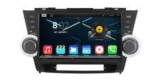 2 GB RAM 32 GB Rom 8 octa Core Android 6.0 para Toyota Highlander alta Lander coche reproductor de DVD radio GPS cabeza unidades grabadora
