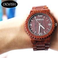 Luxury Men Women Red Sandalwood Watch Quartz Fashionable Wristwatches Vintage Wood Case Men Watches Masculino Relogio