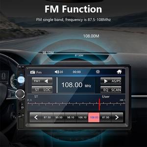 """Image 5 - جانسايت 7 """"كامل HD 1080P راديو السيارة MP5 لاعب DVD مع 8LED ضوء كاميرا خلفية شاشة تعمل باللمس بلوتوث مرآة رابط 2 الدين ستيريو سيارة"""