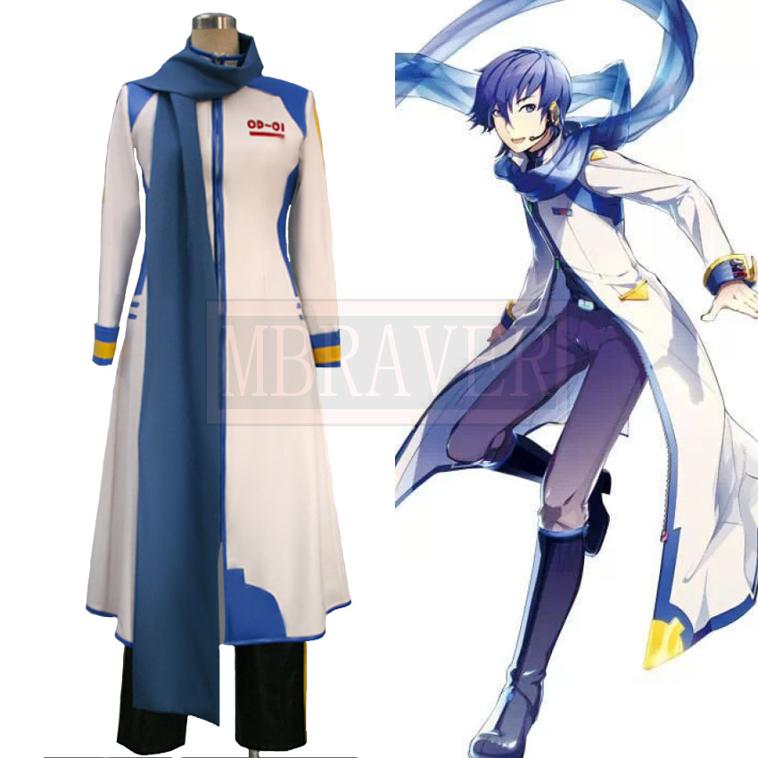 Vocaloid Kaito Halloween Christmas Cosplay Costume  Uniforms Tailor made Any Size