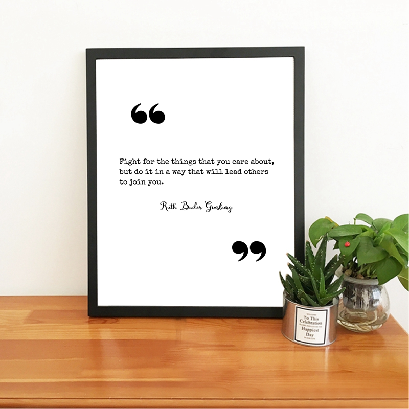 Ruth Bader Ginsburg Quote Canvas Picture Home Decor