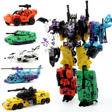 [New] Action figure Defensor Giant War 5In1 Combined Alloy Oversize PATRON SAINT Deformation TF Robot FigureToys