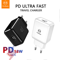 Mcdodo UE/EUA USB Tipo C PD 3.0 Carregador 18 W Carregamento Rápido para MacBook iPhone Samsung Xiaomi Huawei carga rápida 4.0 Adaptador USB C
