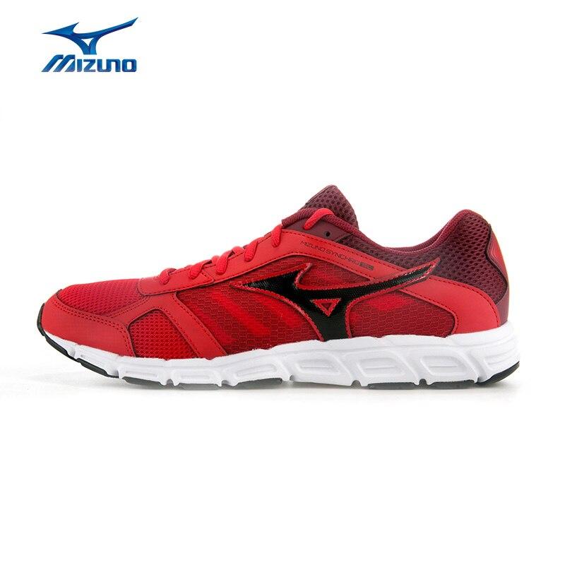 MIZUNO Men's SYNCHRO SL Jogging Running Shoes Cushion Sneakers Breathable Sports Shoes J1GE162809 XYP481 mizuno men rebula v3 ag professional cushion soccer shoes sports shoes comfort wide sneakers p1ga178603 yxz069