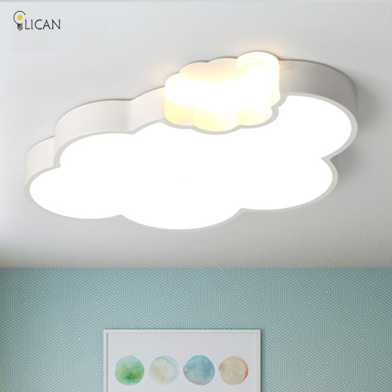 LICAN LED Cloud kids room lighting children ceiling lamp Baby ceiling light with Dimming for boys girls bedroom Ceiling Lamp led cute cartoon starfish led ceiling lamp children room ceiling light creative acrylic ceiling lamp for bedroom baby room lighting