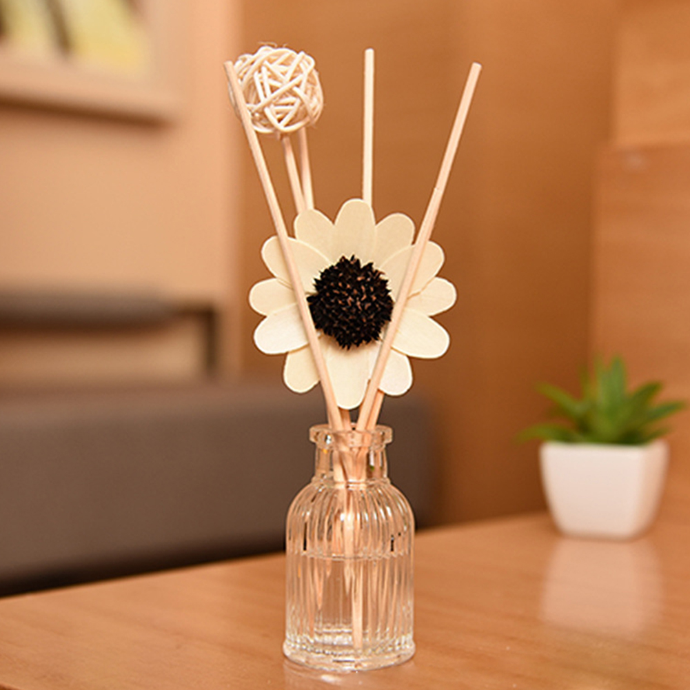 Aromatherapy Stick Deodorant Rattan Ball Sun Flower Spa Rattan Ball Reed Diffuser Set Office Fresh Air Home Gift(Without Bottle)