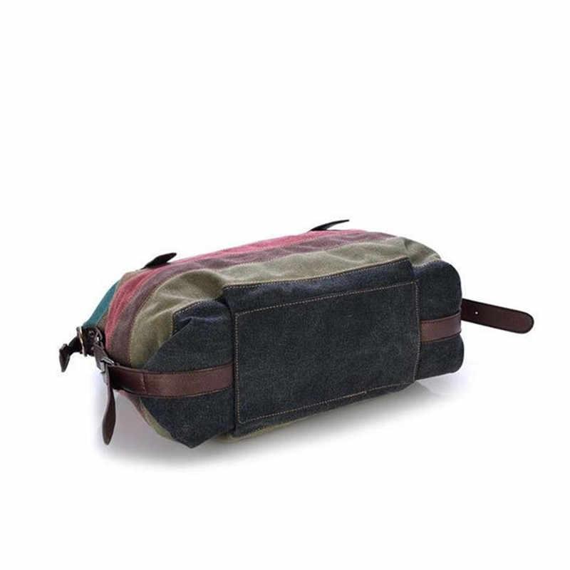 Nowe gorące torebki damskie kasetonowe torby płócienne na co dzień patchworkowa torebka na ramię duża torba na zakupy w paski