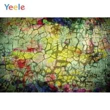 Yeele grunge 레트로 균열 장식 벽 아기 개인 파티 사진 배경 사진 스튜디오 사진 배경