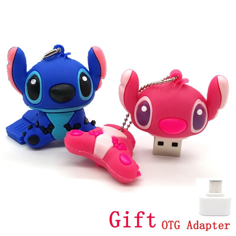 Cartoon Memory Stick Lilo /& Stitch Usb Flash Drive 64gb 32gb 16gb 8gb Pendrive