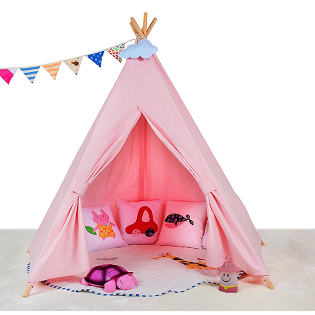 pink teepee kid play tent white fabric teepee children bed tent indoor and outdoor  sc 1 st  AliExpress.com & pink teepee kid play tent white fabric teepee children bed tent ...