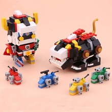 18002 455pcs Defender Of The Universe Brickheadz Voltron Beast King GoLion Robot  Building Blocks Brick Toy