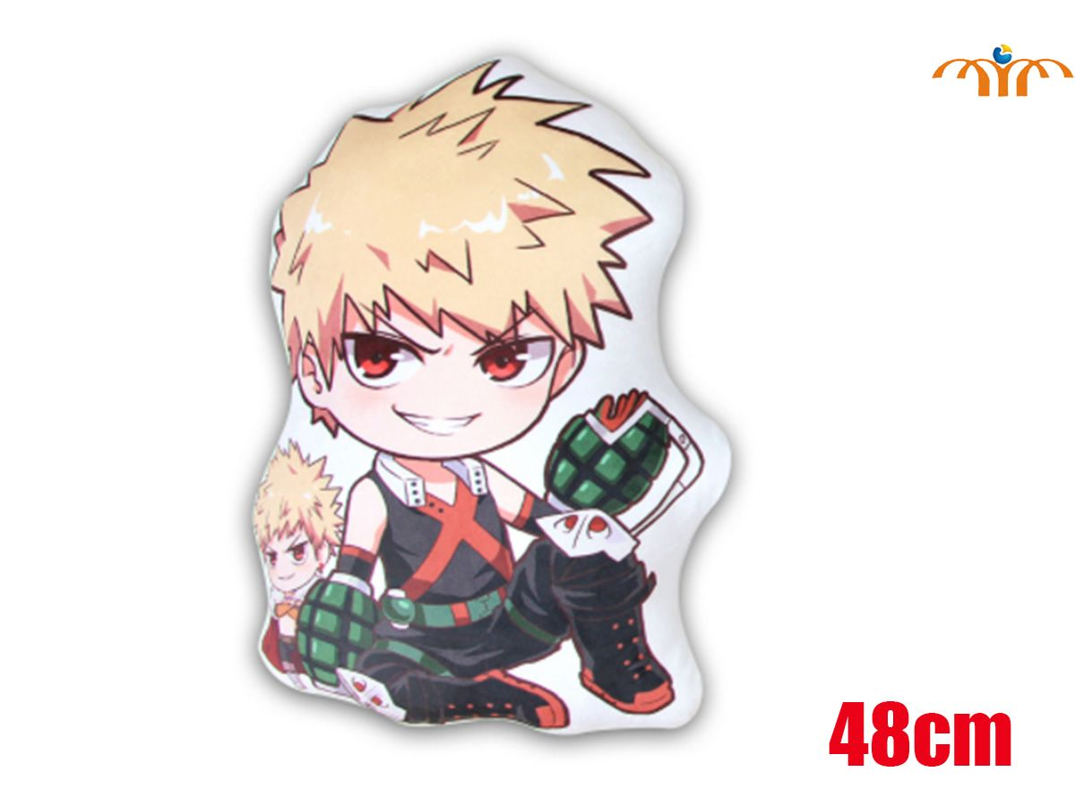 OHCOMICS 48CM Anime My Hero Academia/Boku no Hero Bakugou Katsuki Peach Skin Pillow Cushion Plush Doll Toy Home Decor Costume