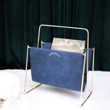 Элегантный органайзер для журналов из искусственной кожи для дома или офиса-подходит для книг, планшетов и газет