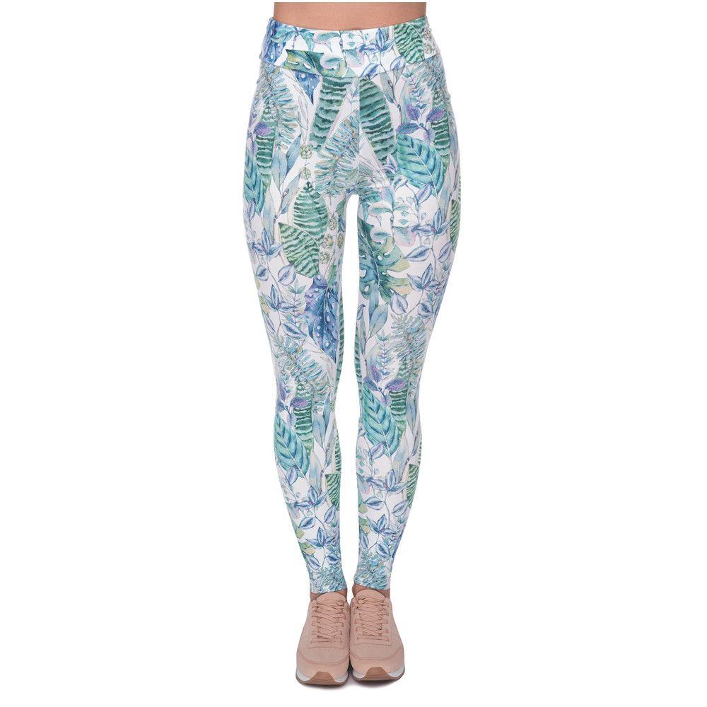 New Design Women High Waist Legging Monstera Jungle Printing Fashion Leggings Woman Pants