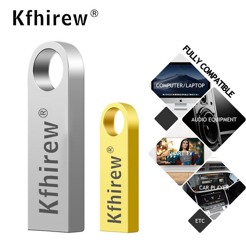 Silver&gold USB Flash Drives 128 Gb Mini Usb Flash 32GB/8GB/4GB/16GB/128GB Metal Pen Key Disk Pendrive Stick Flash Memory Card