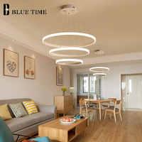 Ringe Moderne Led-deckenleuchte Hängen Lampen Für wohnzimmer Schlafzimmer esszimmer Leuchten Kronleuchter Decke Lampe Weiß & Schwarz