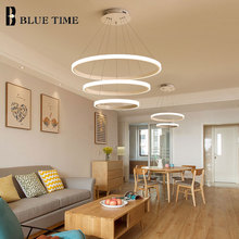 Rings Modern Led Ceiling Light Hanging Lamps For Living room Bedroom Dining room Luminaires Chandelier Ceiling Lamp White&Black circle rings led ceiling light for home modern led chandelier ceiling lamp for dining room living room black white gold finished