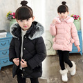 Girls child winter wadded jacket children winter cotton-padded jacket child medium-long cotton-padded jacket girl winter coat