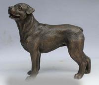 7Abstract Art Sculpture Decoration China Copper Bronze Dog Statue Figurine