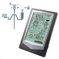 Беспроводной метеостанция с PC Link бытовые большой ЖК дисплей Термометр Гигрометр атмосферное Давление Прогноз погоды часы WS1040