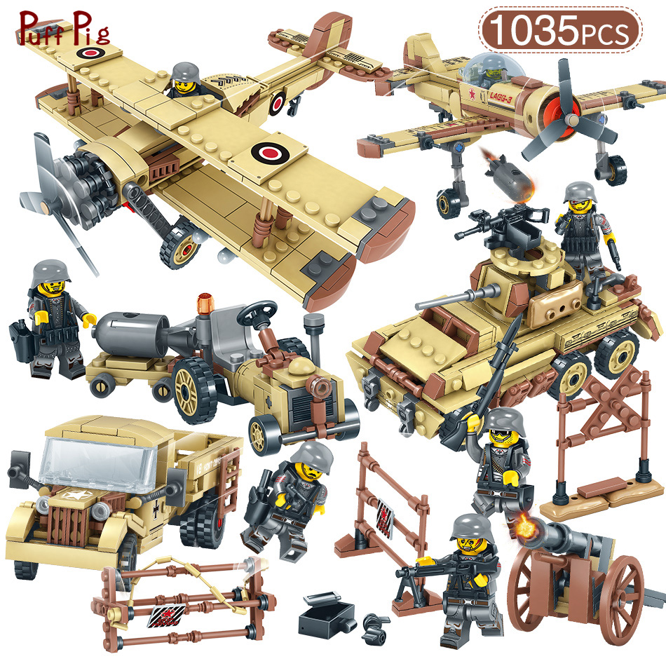 Military WW2 Soldier Figures Model Building Blocks Set Weapon Special Force CS SWAT Gun Child Toys Compatible Legoed Army Bricks