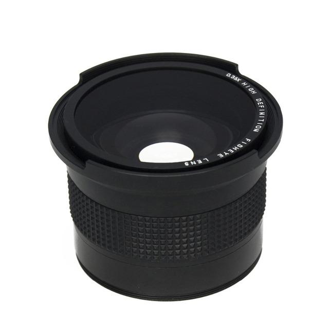 Lightdow 0.35x 58mm Super Fisheye Wide Angle Lens+Macro lens for 58mm Canon 70D 60D 7D 6D 700D 650D 600D 550D 1100D 18-55mm Lens