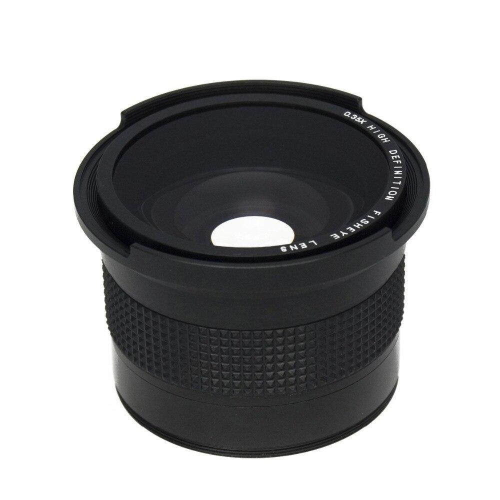Lightdow 0.35x58 millimetri Super-Fisheye Obiettivo Grandangolare + obiettivo Macro per 58 millimetri Canon 70D 60D 7D 6D 700D 650D 600D...