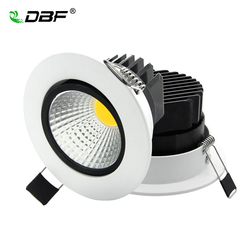 Super Bright Recessed LED COB Downlight Dimmable 5W 7W 9W 12W LED Spot light LED Ceiling Lamp AC 110V 220V White \ Warm White