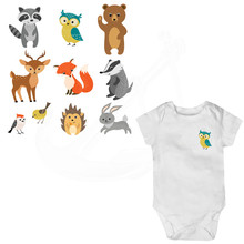 9 Pattern/combo Baby cartoon animal stickers 19*19cm iron on patches DIY T-shirt hoodie Grade-A Thermal transfer