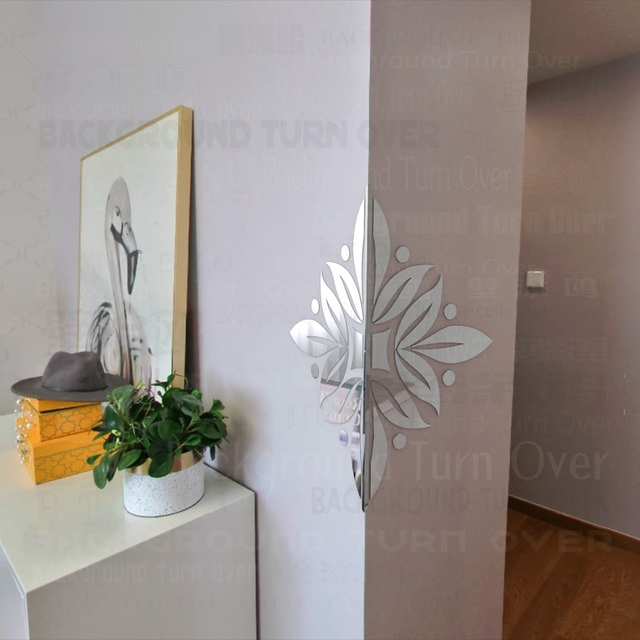 Aliexpress.com : Buy Flower Blooms Pattern Decorative Wall Corner ...