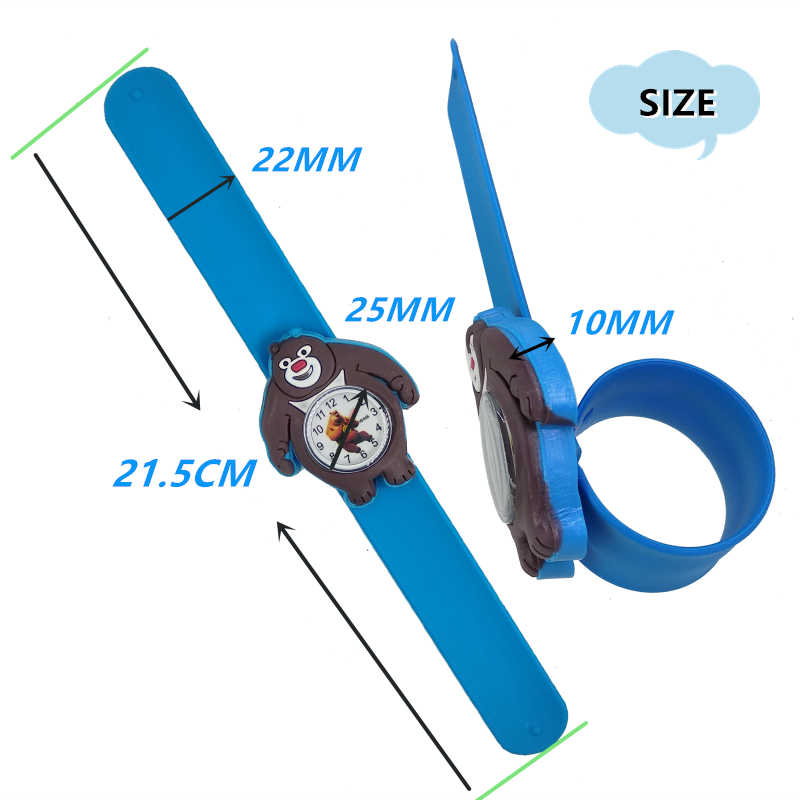 การ์ตูน 3D หมีนาฬิกาเด็กนาฬิกาควอตซ์เด็กนาฬิกาเด็กนักเรียนหญิงนาฬิกา Relogio Infantil