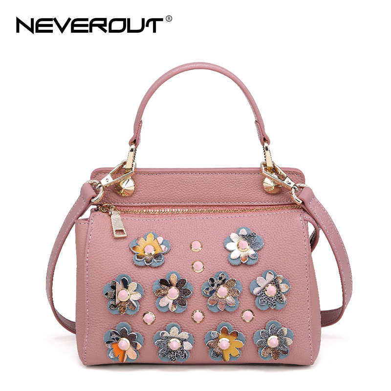 national chinese style handbags patent leather bag tote bolsa bags new fashion flowers ladies printing women female handbag NeverOut 2 Color Brand Women Bag Flowers Shoulder Sac Handbag Female Genuine Leather Crossbody Bags Fashion Ladies Handbags Tote