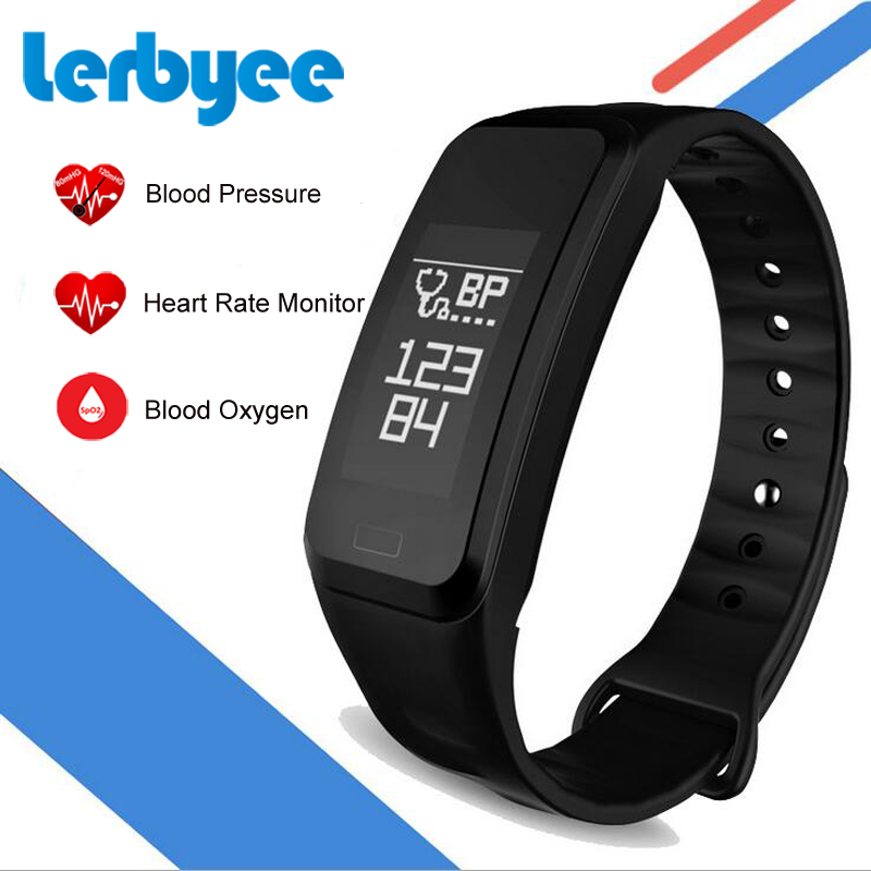 LERBYEE Smart Bracelet R1 Message Reminder Real-time Heart Rate Monitor Fitness Tracker Waterproof Activity Tracker for iPhone